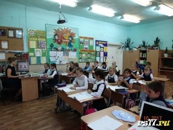 Урок русского языка в 4 классе. Учитель - Журавлёва Ксения.