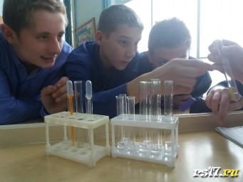 """Конкурс """"Химический детектив"""" Ребята определяют на время 3 вещества, которые находятся в пробирках с номерами."""