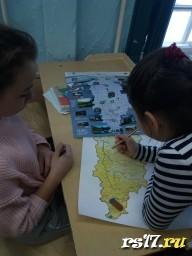 создаем карту заповедников Красноярского края