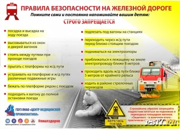 Меры безопасности на железной дороге